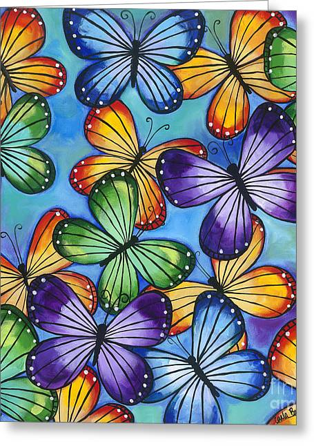 Carla Bank Greeting Cards - Come fly with me Greeting Card by Carla Bank