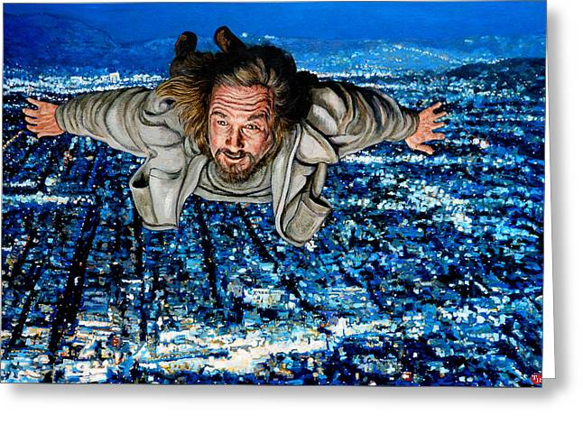 Lebowski Paintings Greeting Cards - Come Fly With Me Greeting Card by Tom Roderick