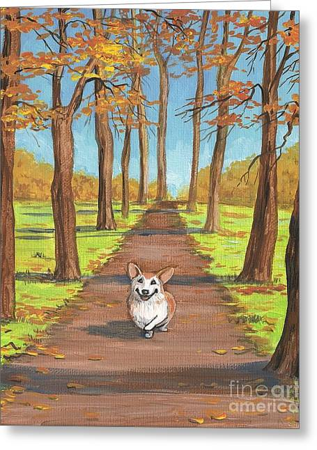Ryta Greeting Cards - Come Here My Little Maple Leaf Greeting Card by Margaryta Yermolayeva