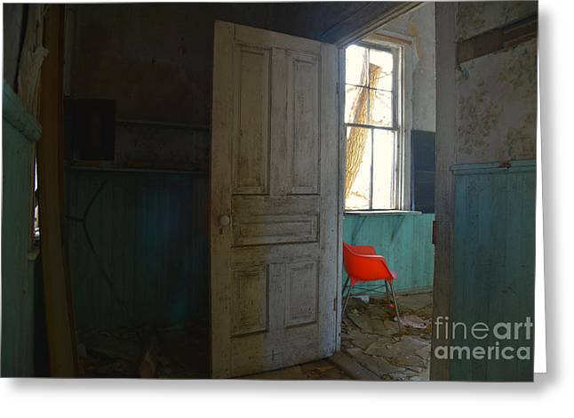 Empty Chairs Greeting Cards - Come In Greeting Card by Russie Marshall