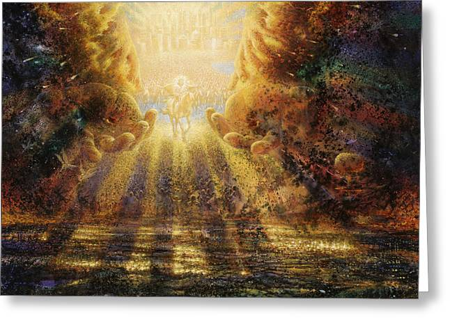 Biblical Greeting Card featuring the painting Come Lord Come by Graham Braddock