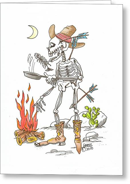 Cook Drawings Drawings Greeting Cards - Come n Get It Greeting Card by Richard Brooks