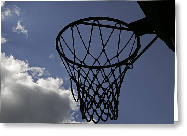 Basketballs Greeting Cards - Come Play Greeting Card by Mark McKinney