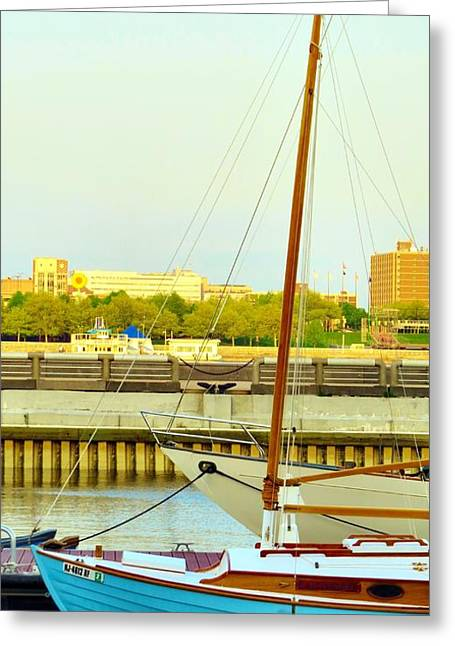 Phillies Framed Prints Greeting Cards - Come Sail Away Greeting Card by Michelle Milano