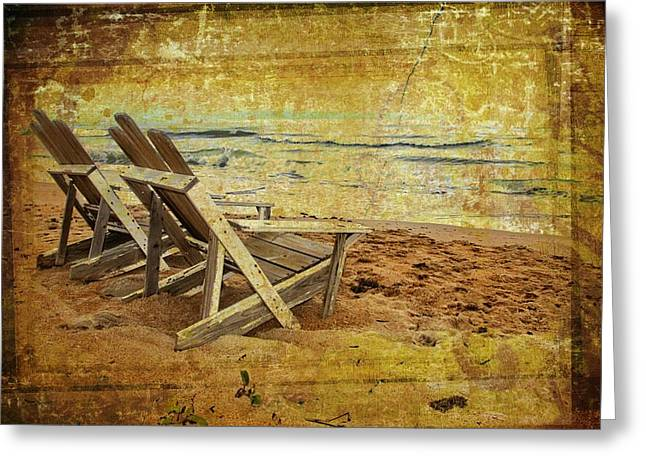 Adirondak Chair Greeting Cards - Come Sit Greeting Card by Alice Gipson