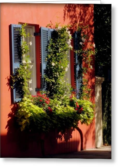 Charleston Houses Greeting Cards - Come To My Window Greeting Card by Karen Wiles