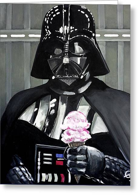 Come To The Dark Side... We Have Ice Cream. Greeting Card by Tom Carlton