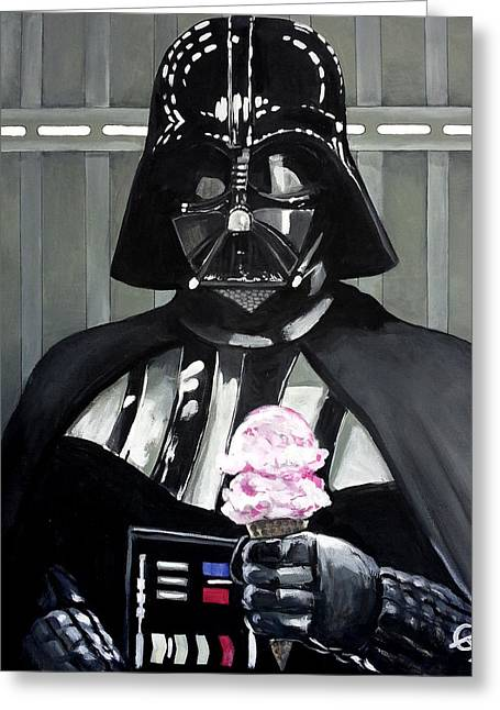 Carlton Greeting Cards - Come to the Dark Side... We Have Ice Cream. Greeting Card by Tom Carlton