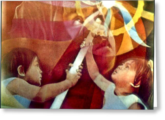 Come Unto Me 1966 Greeting Card by Glenn Bautista