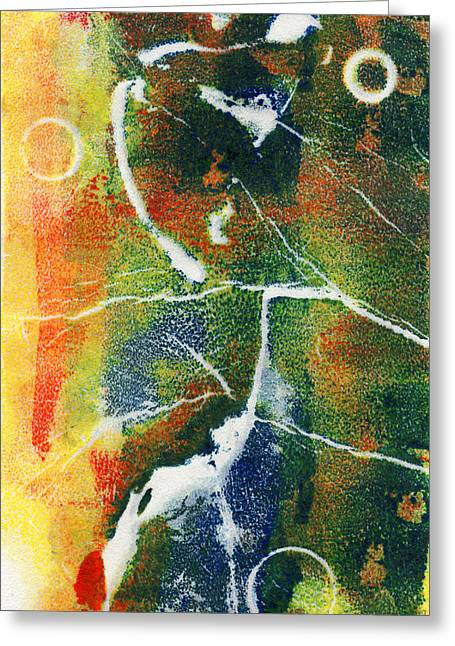 Improvisation Mixed Media Greeting Cards - Come With Me Greeting Card by Nadia Korths
