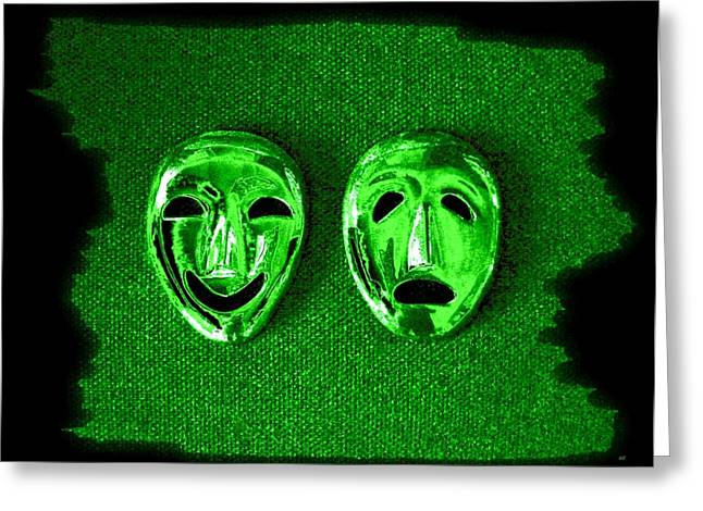 Despair Greeting Cards - Comedy And Tragedy Masks 3 Greeting Card by Will Borden