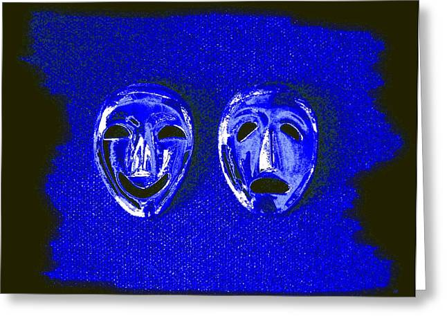 Despair Greeting Cards - Comedy And Tragedy Masks 5 Greeting Card by Will Borden
