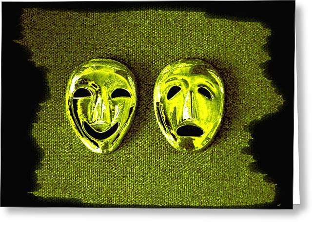 Despair Greeting Cards - Comedy And Tragedy Masks 6 Greeting Card by Will Borden