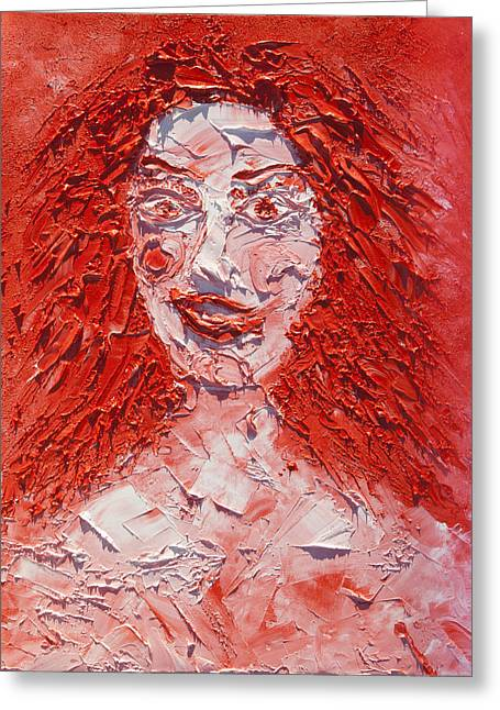 Archetype Paintings Greeting Cards - The Laughter of Medusa Greeting Card by Sora Neva