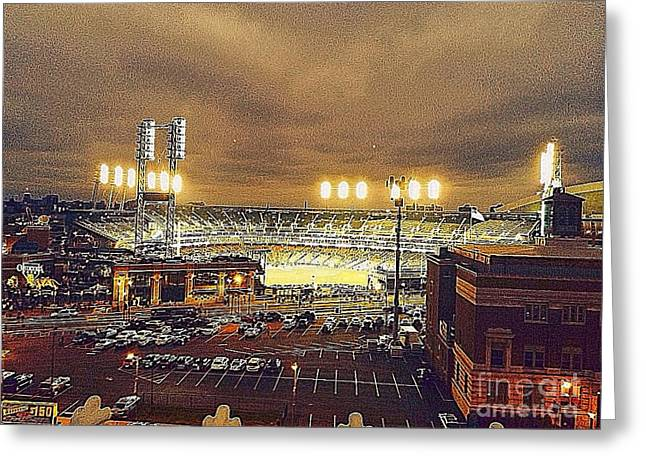 Detroit Tigers Digital Greeting Cards - Comerica Night Game 2 Greeting Card by J S