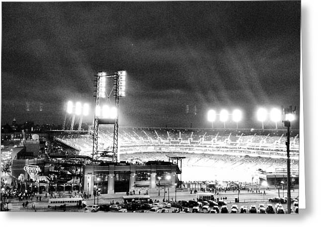 Detroit Tigers Digital Art Greeting Cards - Comerica Park At Night Greeting Card by J S