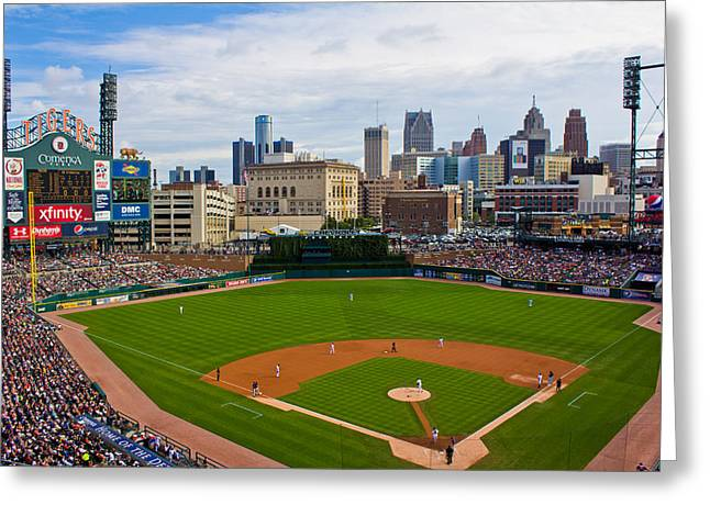 America Pastime Greeting Cards - Comerica Park Greeting Card by John McGraw