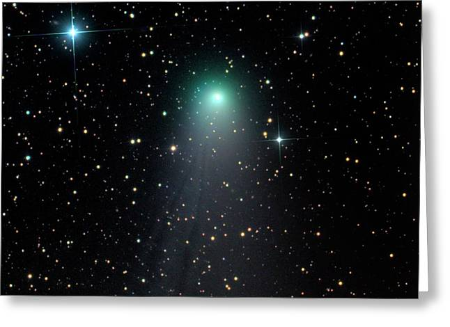 Comet C2012 V2 Greeting Card by Damian Peach