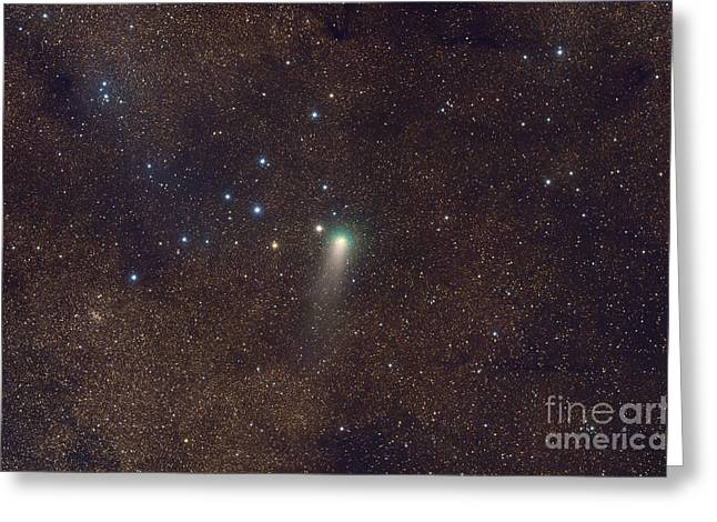 2009 Digital Art Greeting Cards - Comet Garradd As It Travels In Front Greeting Card by Rogelio Bernal Andreo
