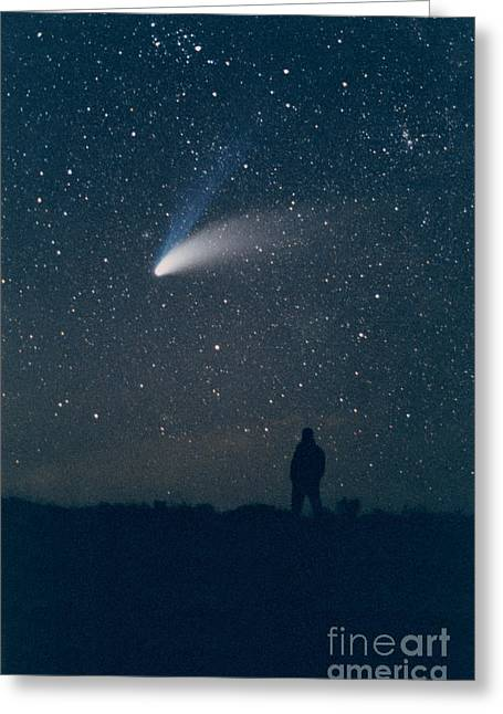 Observer Greeting Cards - Comet Hale-bopp Greeting Card by John Chumack