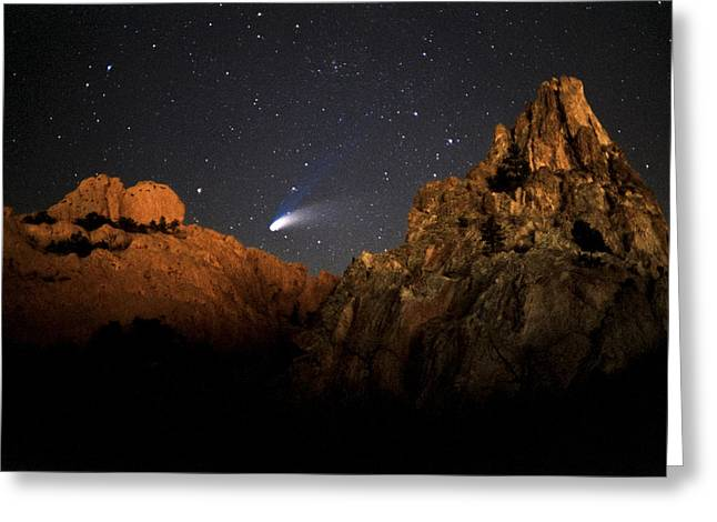 Comet Hale-bopp Photography Greeting Cards - Comet Hale-Bopp Greeting Card by John Rising
