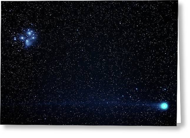 Comet Lovejoy Greeting Card by Babak Tafreshi