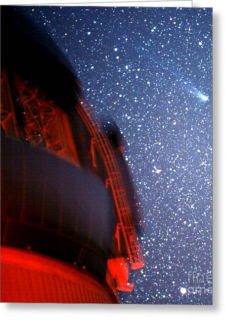 Telescope Domes Greeting Cards - Comet Neat Greeting Card by Stephen & Donna O