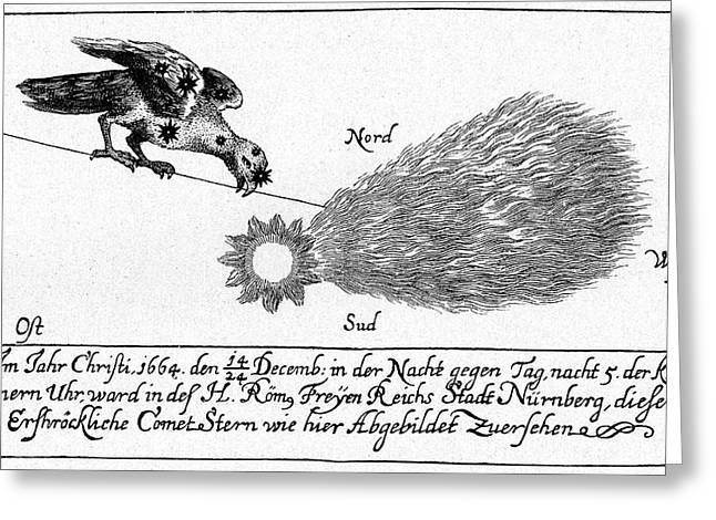 Comet Of 1664-5 Greeting Card by Cci Archives