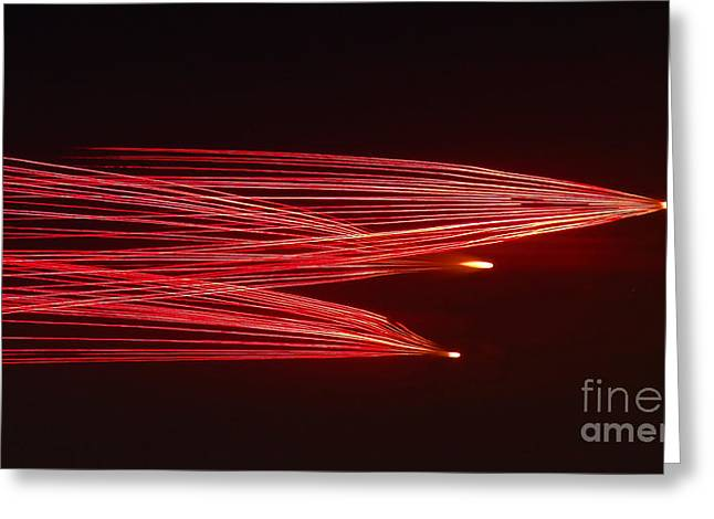 Pyrotechnics Greeting Cards - Comets Greeting Card by Emma Jones