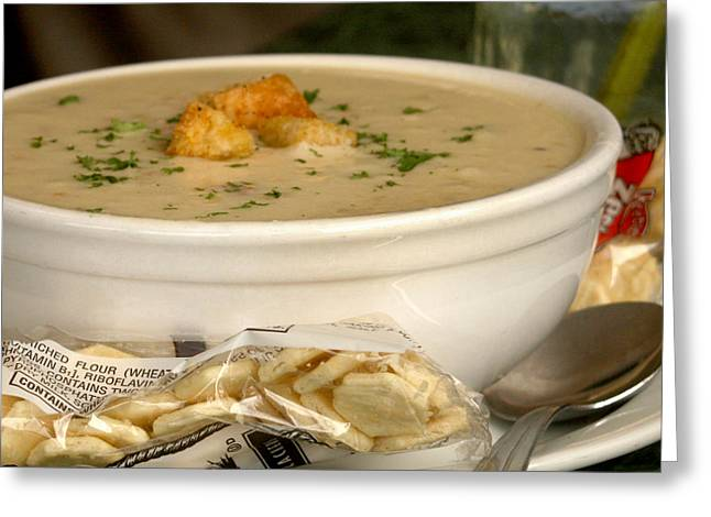 Clam Chowder Greeting Cards - Comfort Food Greeting Card by Art Block Collections