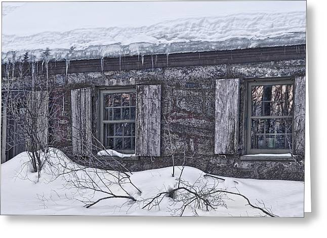 Old Maine Houses Greeting Cards - Comfort It Once Gave Greeting Card by Richard Bean