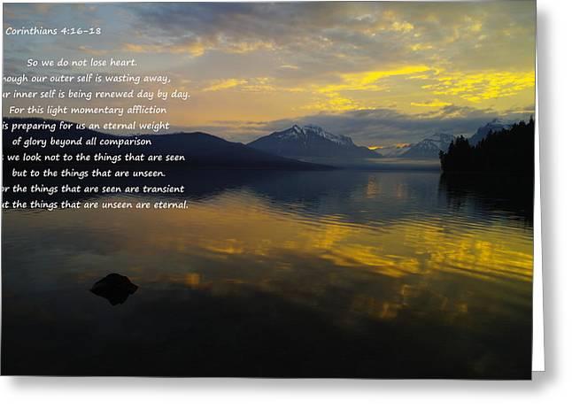 Lake Mcdonald Greeting Cards - Comfort Greeting Card by Jeff  Swan