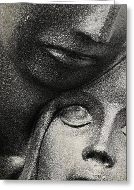 Statue Portrait Greeting Cards - Comfort  Greeting Card by Jerry Cordeiro