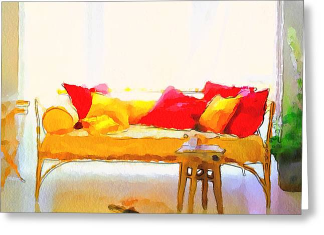 Interior Still Life Digital Art Greeting Cards - Comfort Style Greeting Card by Yury Malkov