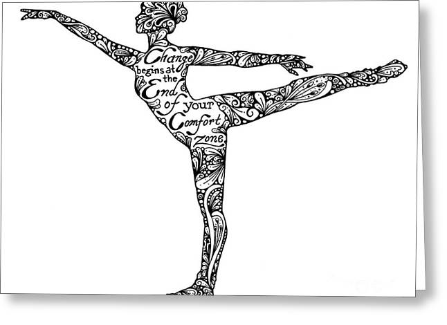 Graceful Drawings Greeting Cards - Comfort Zone Greeting Card by Melissa Sherbon
