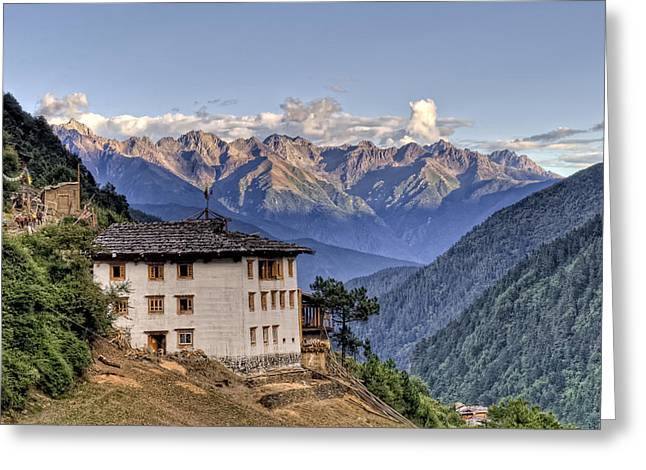 Tibetan Buddhism Greeting Cards - Comfortable House in Yubeng Greeting Card by James Wheeler