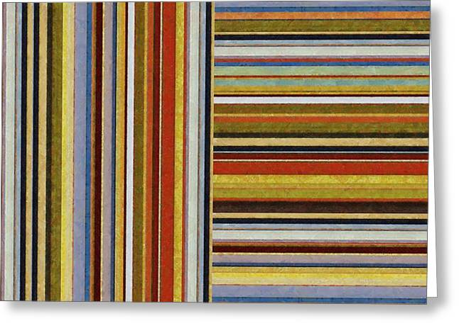 Geometric Design Greeting Cards - Comfortable Stripes lX Greeting Card by Michelle Calkins