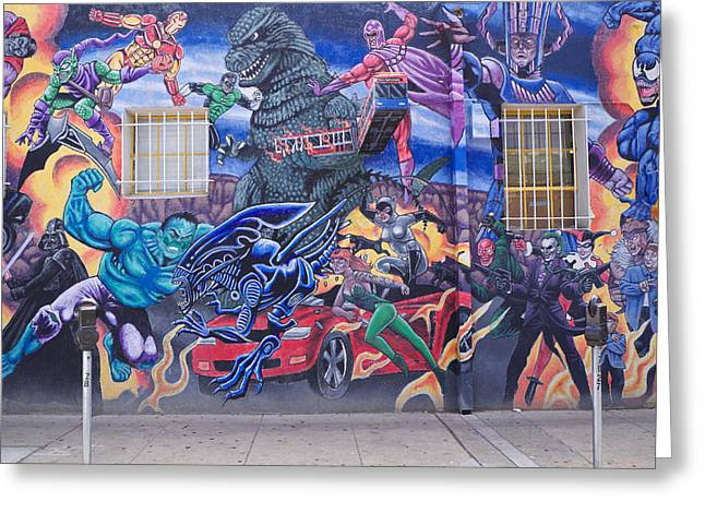 Umm Greeting Cards - Comics Mural Albuquerque Greeting Card by Mary Lee Dereske