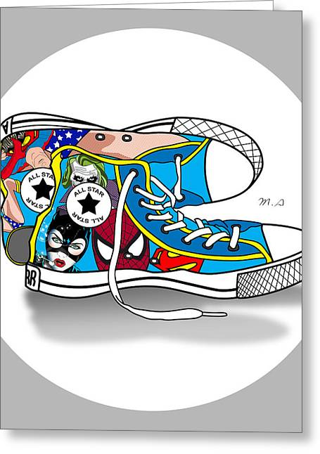 Super Stars Greeting Cards - Comics Shoes 2 Greeting Card by Mark Ashkenazi