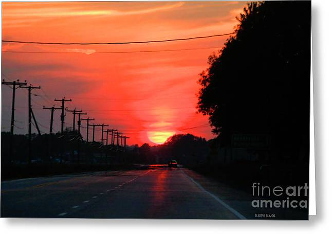 Roadway Greeting Cards - Coming Home From Henryville Greeting Card by Deborah Benoit