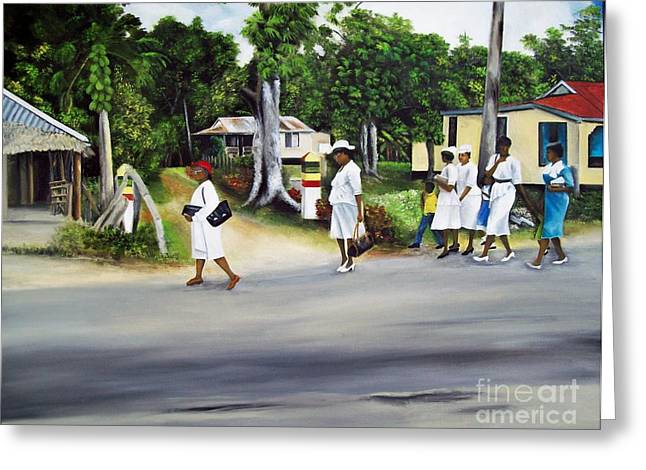 Coming Home From Service Greeting Card by Kenneth Harris