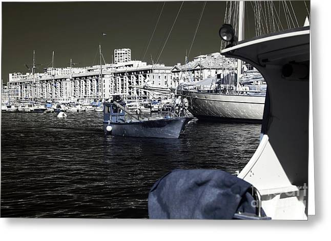 Sailboats In Water Greeting Cards - Coming Home in Marseille Greeting Card by John Rizzuto