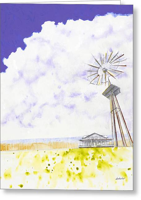 Abstract Beach Landscape Greeting Cards - Coming Home Greeting Card by Jerome Lawrence