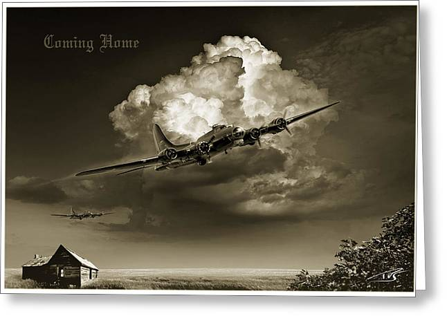 Iraq Greeting Cards - Coming Home Greeting Card by Peter Van Stigt
