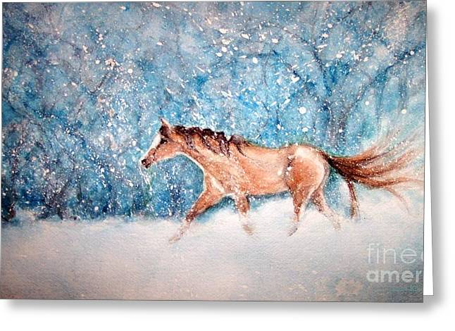 Moonlit Night Greeting Cards - Coming home Greeting Card by Janine Riley