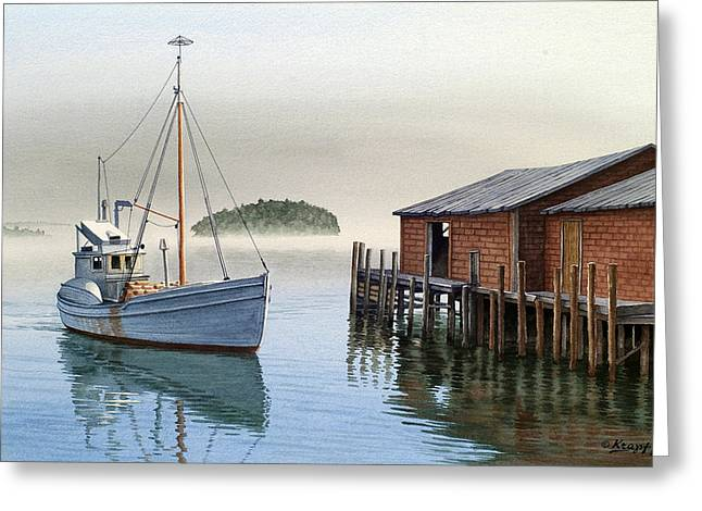 Maine Seascapes Greeting Cards - Coming In Greeting Card by Paul Krapf