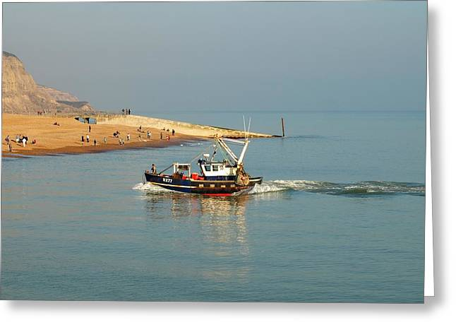 Fishing Trawler Greeting Cards - Coming in Greeting Card by Sharon Lisa Clarke
