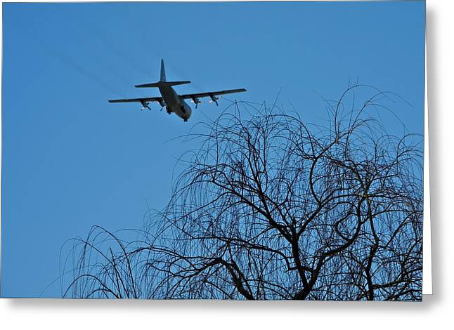 Palm Springs Airport Greeting Cards - Coming in to Land in Palm Springs Greeting Card by Kirsten Giving