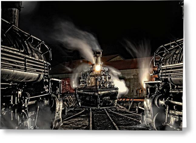 Narrow Gauge Greeting Cards - Coming In Tonight Greeting Card by Ken Smith