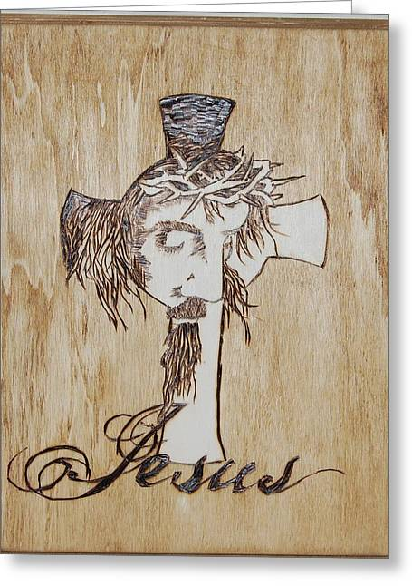 Religion Pyrography Greeting Cards - Coming out Greeting Card by Alicia Riddle